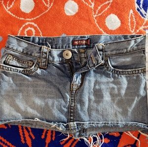 Hot kiss blue Jean's mini skirt
